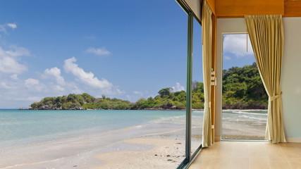 Room hotel resort at clean beach