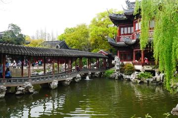 Tempelanlage in Shanghai im Yu Yuan Garten