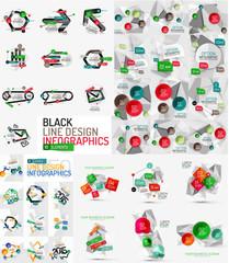 Vector mega set of modern business infographic templates