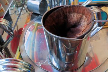 Coffee percolator, Thai local coffee.