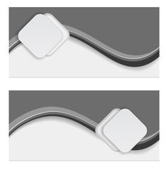 banner label wave striped design