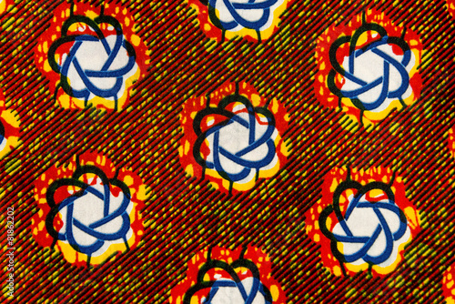 Manufactured African fabric (cotton) - 81862202
