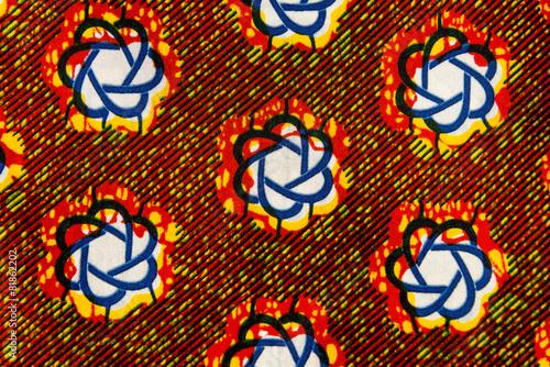 Leinwandbild Motiv Manufactured African fabric (cotton)