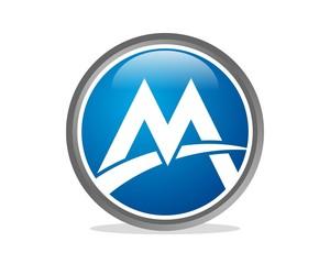 M letter Sphere Logo v.1