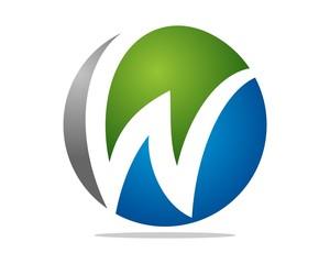 W letter Sphere Logo v.1