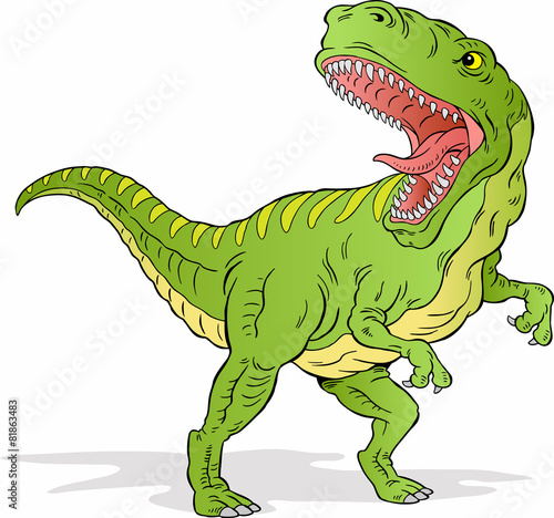 Angry T-Rex Dinosaur - 81863483