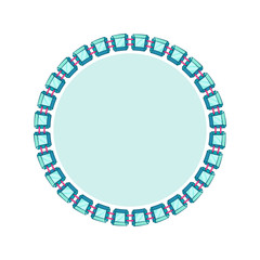 Simple style round jewelry frame template.
