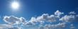 Leinwandbild Motiv Sonnenstrahlen am Wolkenhimmel