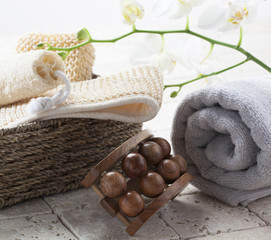 exfoliation with massage at the spa