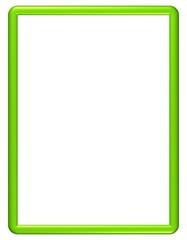 grüner Rahmen mit runden Ecken