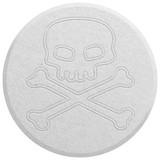 White Ecstasy pill isolated on white poster