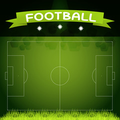 vector image of the size of a football field in real proportions