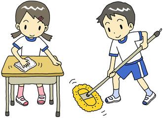 掃除 女子 男子
