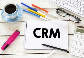 CRM Written on white paper