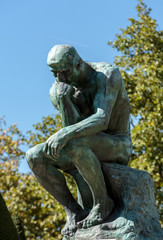 The Thinker in Rodin Museum in Paris