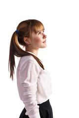Teenage schoolgirl in formal clothes