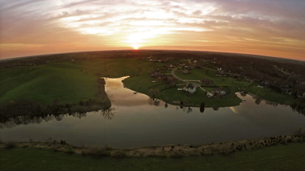 Sunset over Kentucky countryside