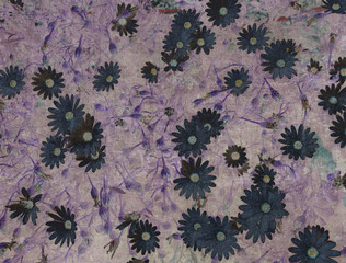Abstract vintage texture with flowers
