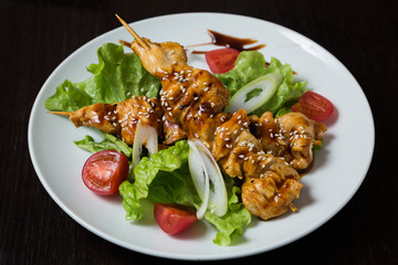 Appetizing grilled shashlik
