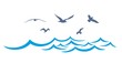 Sea landscape with seagulls. - 81867439