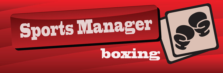 Banner sports manager in boxing