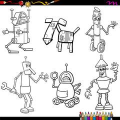 fantasy robots cartoons coloring page