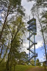 51 m hoher Aussichtsturm im Nationalpark, Waren Müritz