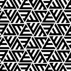 Abstract Striped Triangular Vector Seamless Pattern
