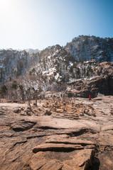 View of Seoraksan in late winter