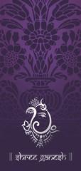 Ganesha, Hindu wedding card, royal Rajasthan, India