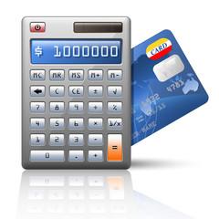 Vector calculator and credit card