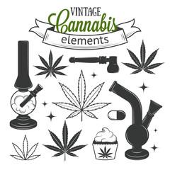 Set of medical cannabis elements