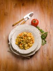 orecchiette with cep edible mushroom