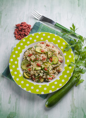 risotto with zucchinis and goji berries