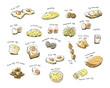 variety egg menu hand drawing illustration - 81869687