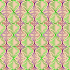 Seamless pattern of colored lines