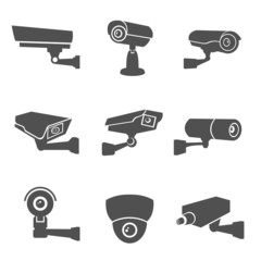 Surveillance Camera Icons