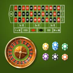 European Roulette Set