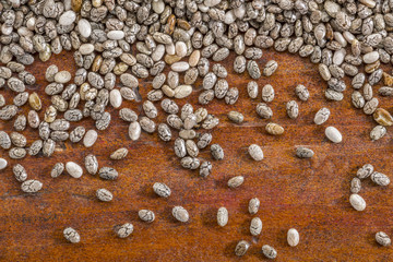 chia seeds close up background