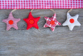 Weihnachtskarte - Sterne auf Holz