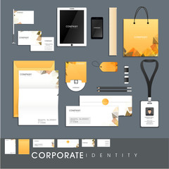 Corporate identity kit for business or corporate sector.