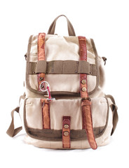travel backpack isolated
