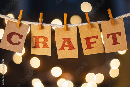 Craft Concept Clipped Cards and Lights - 81872209