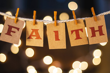Faith Concept Clipped Cards and Lights