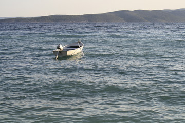 Motorboat in the sea