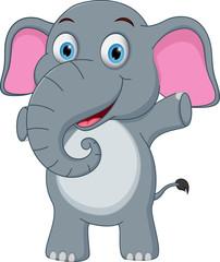 Happy baby elephant cartoon