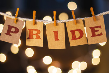 Pride Concept Clipped Cards and Lights