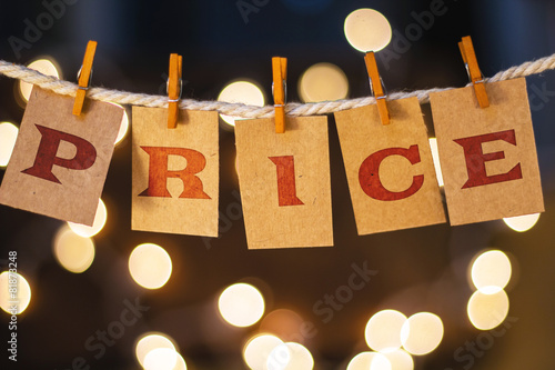 Price Concept Clipped Cards and Lights - 81873248