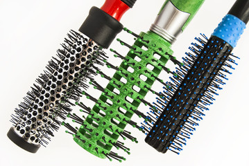 Round comb for styling and curling hair.