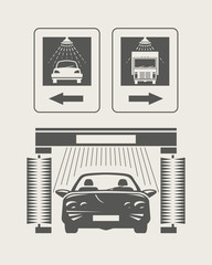Car wash. Set of vector icons. Eps8 vector illustration
